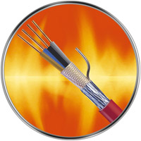 Fire resistant building wires