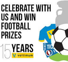 Celebrate with us and win football prizes