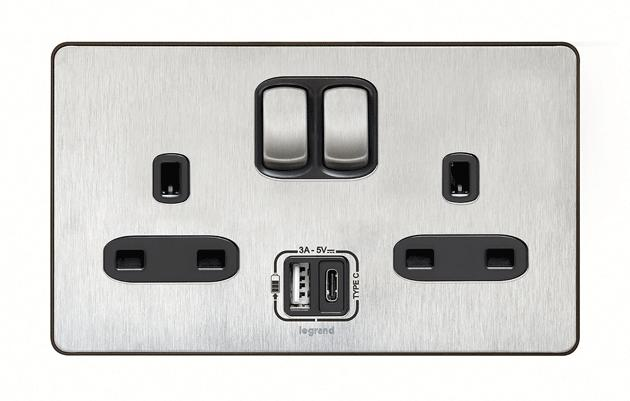 Astonishing Legrand Premieres 13A Socket With Integrated Usb Type C Wiring Digital Resources Indicompassionincorg