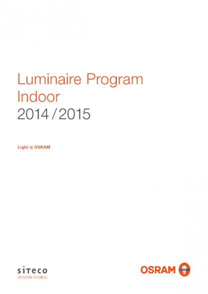 Ral 9016 Oder 9010 osram product catalogue luminaire program indoor