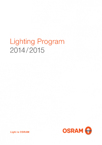 Osram product catalogue lighting program 2014 2015