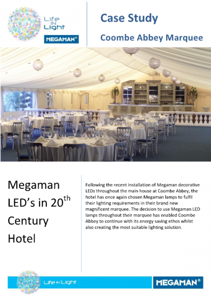 Megaman - Case Study - Coombe Abbey Marquee | Voltimum