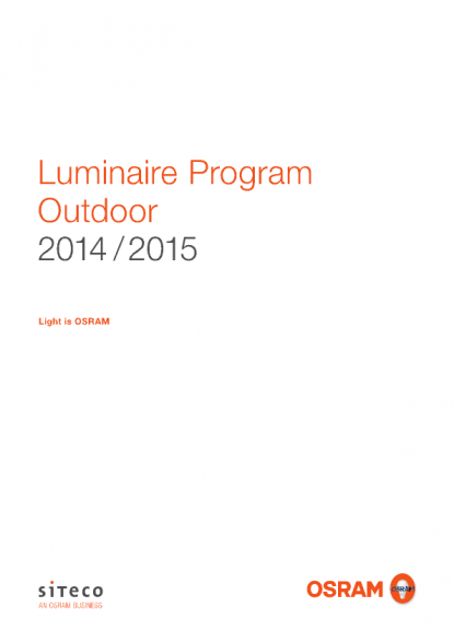OSRAM Product Catalogue Luminaire Program Outdoor