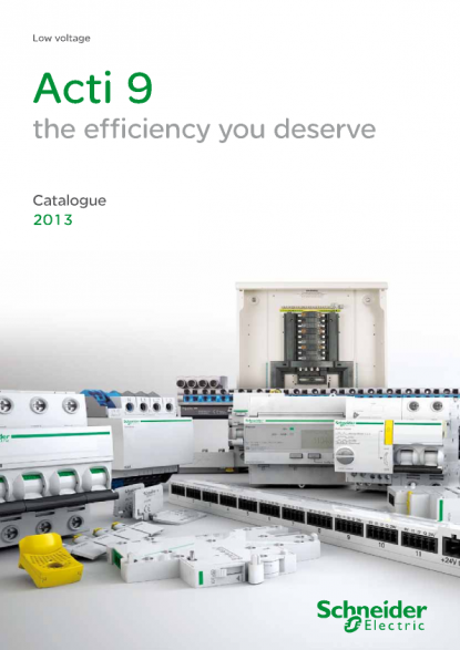 schneider electric product catalogue acti9 launch