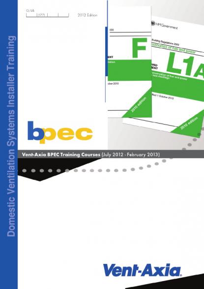 Vent-Axia - BPEC Training Courses | Voltimum UK